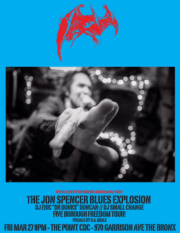 The Jon Spencer Blues Explosion – The Point, The Bronx, New York (27 March 2015)