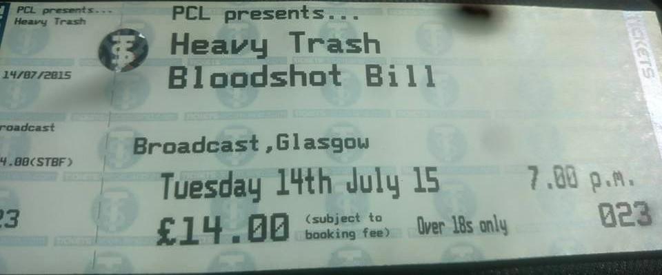 Heavy Trash - Broadcast, Glasgow, UK (14 July 2015)