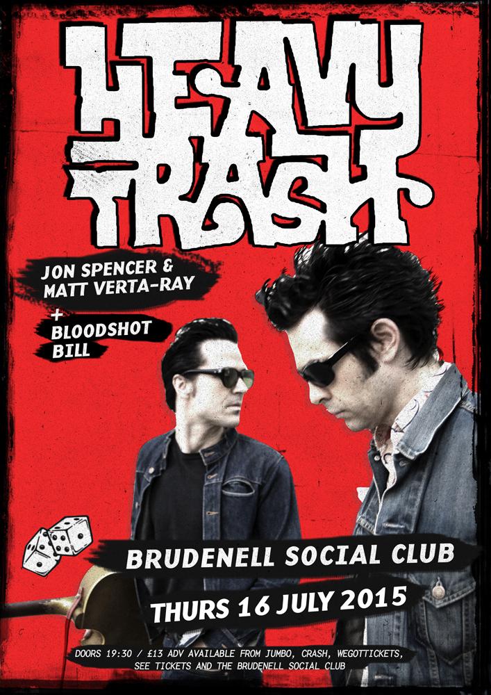 Heavy Trash - Brudenell Social Club, Leeds, UK (16 July 2015)