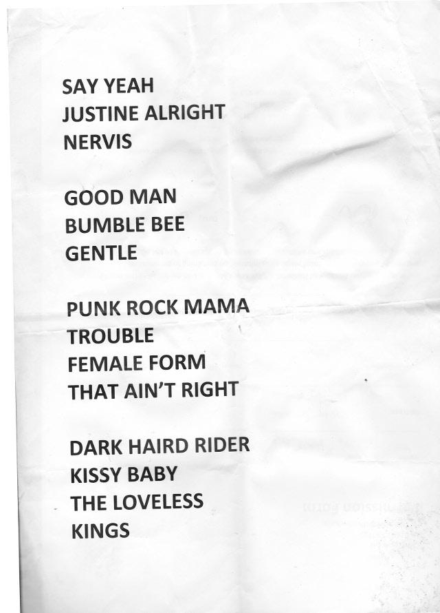 Heavy Trash - Oslo Hackney, London, UK (17 July 2015) - Set List