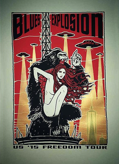 The Jon Spencer Blues Explosion - US Freedom Tour '15 (POSTER, US)