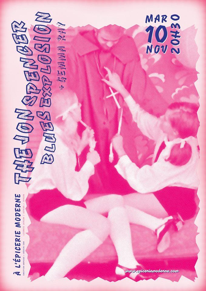The Jon Spencer Blues Explosion - L'Épicerie Moderne, Feyzin, France (10 November 2015)