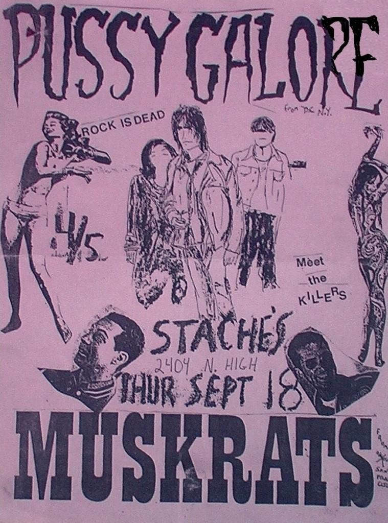Pussy Galore - Stache's, Columbus, Ohio, US (18 September 1986)