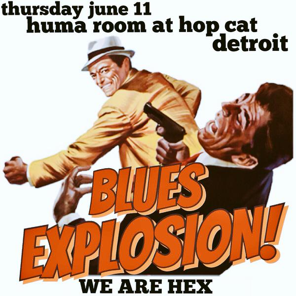 The Jon Spencer Blues Explosion - The Huma Room at Hopcat Detroit, Detroit, MI, US (11 June 2015)