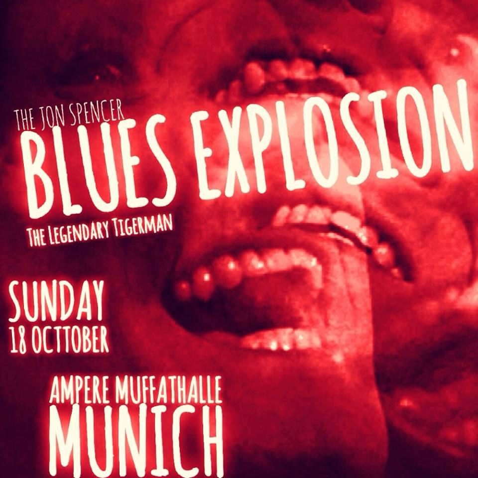 The Jon Spencer Blues Explosion - Ampere / Muffatwerk, München, Germany (18 October 2015)