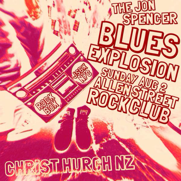 The Jon Spencer Blues Explosion - Allen St, Christchurch, New Zealand (2 August 2015)