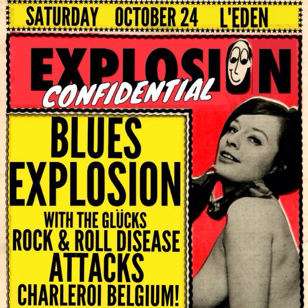 The Jon Spencer Blues Explosion – Eden, Charleroi, Belgium (24 October 2015)
