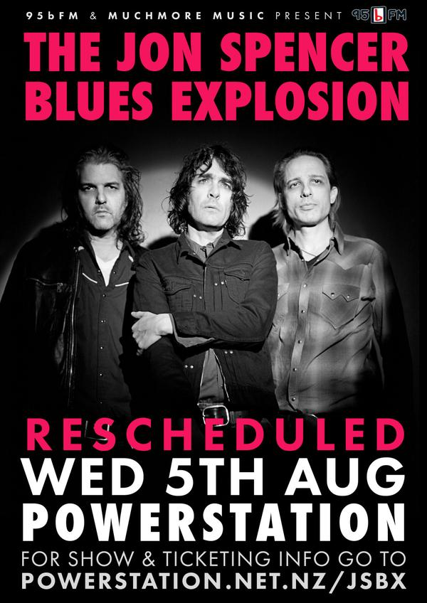 The Jon Spencer Blues Explosion – Powerstation, Auckland, New Zealand (31 July 2015) – CANCELLED / RESCHEDULED (5 August 2015)
