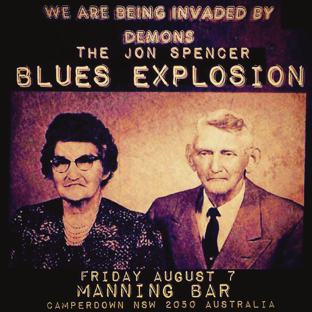 The Jon Spencer Blues Explosion – Manning Bar, University of Sydney, Sydney, Australia (7 August 2015)