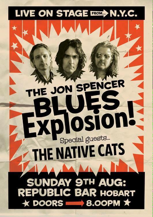 The Jon Spencer Blues Explosion - Republic Bar, Hobart, Australia (9 August 2015)