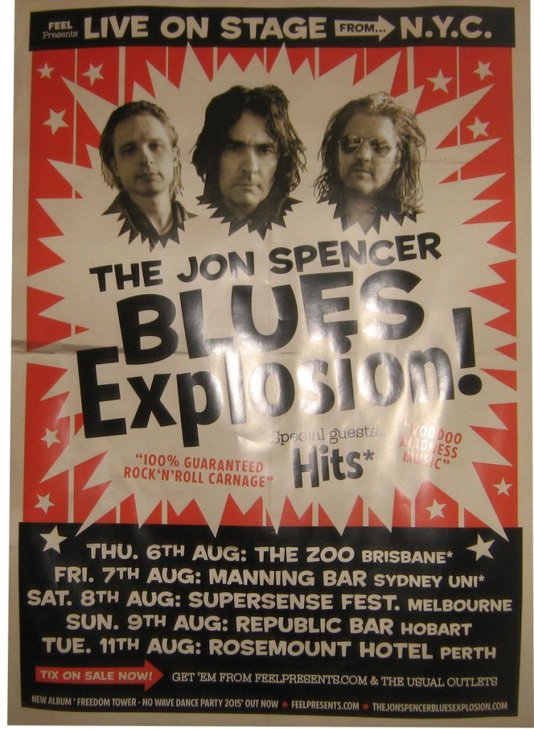 The Jon Spencer Blues Explosion – Australian Tour Poster