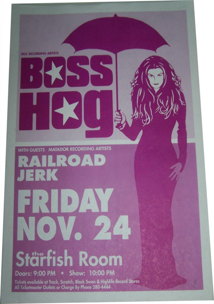 Boss Hog - The Starfish Room, Vancouver, BC, Canada (24 November 1995)