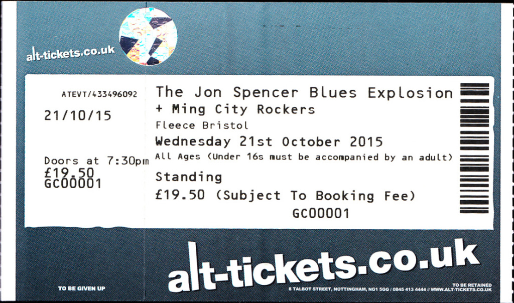 The Jon Spencer Blues Explosion - The Fleece, Bristol, UK (21 October 2015)