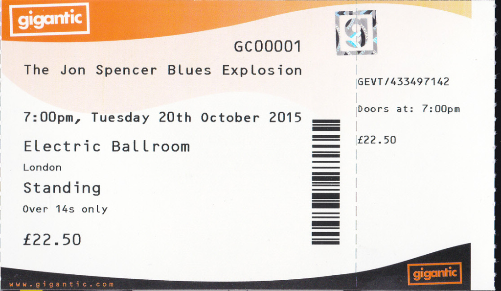 The Jon Spencer Blues Explosion - Electric Ballroom, London, UK (20 October 2015)