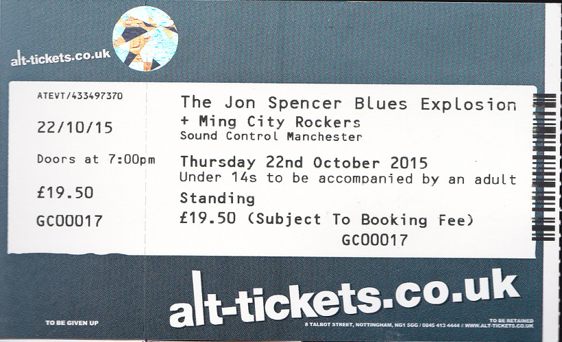 The Jon Spencer Blues Explosion – Sound Control, Manchester, UK (22 October 2015) - Tickets