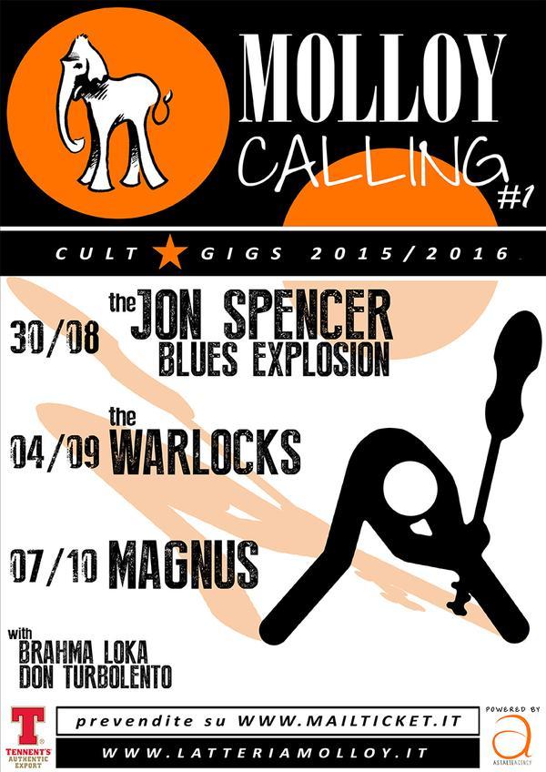 The Jon Spencer Blues Explosion - Latteria Molloy, Brescia, Italy (30 August 2015)