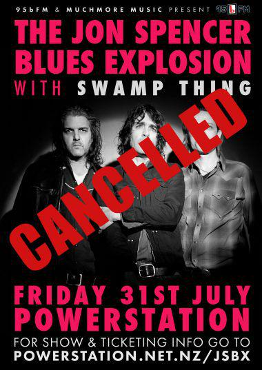 The Jon Spencer Blues Explosion - Powerstation, Auckland, New Zealand (31 July 2015) - CANCELLED - RESCHEDULED
