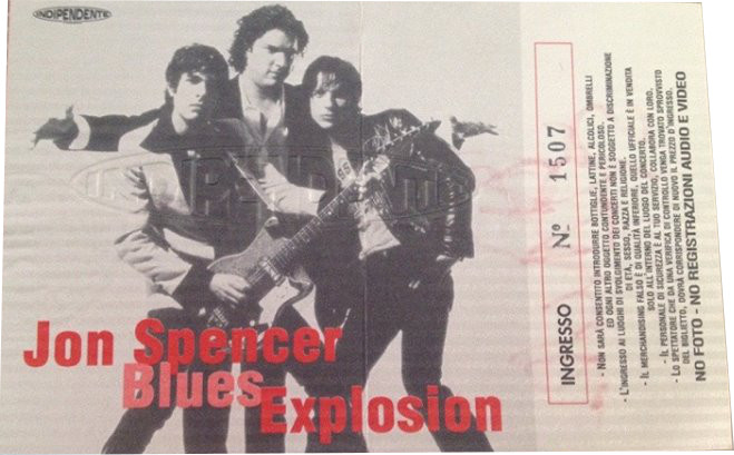The Jon Spencer Blues Explosion - Palladium, Roma, Italy (18 April 1999)