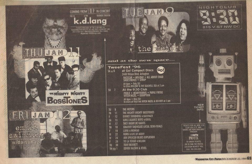 The Jon Spencer Blues Explosion - 9:30 Club, Washington, DC, US (24 January 1996)