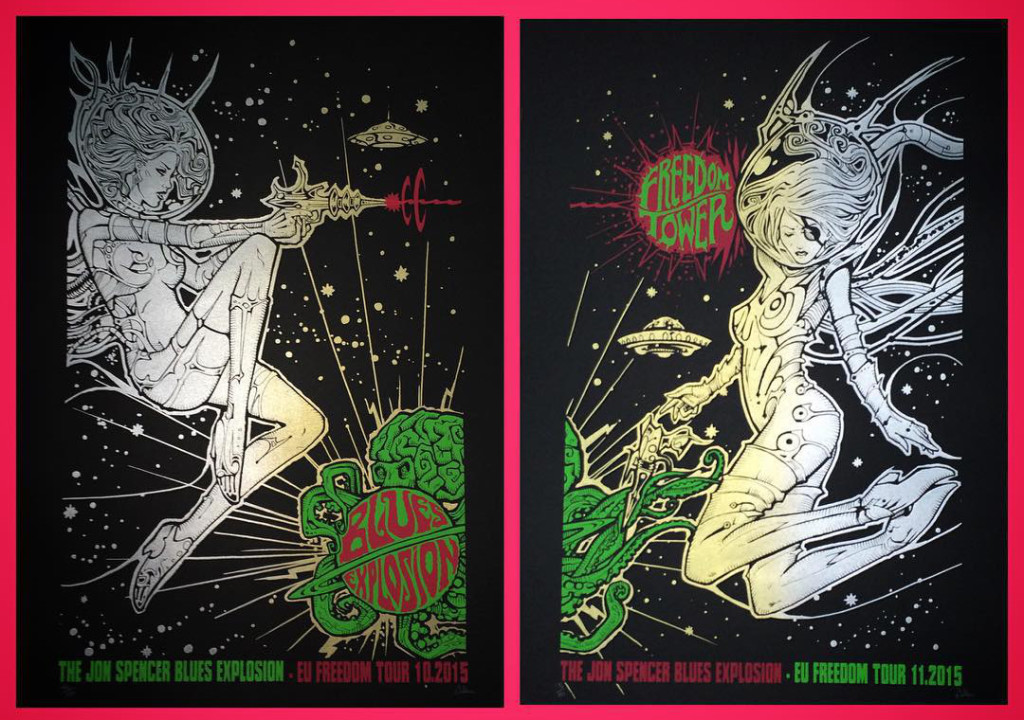 The Jon Spencer Blues Explosion - Freedom Tower Tour (POSTER, EUROPE)