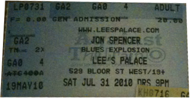 The Jon Spencer Blues Explosion - Lee's Palace, Toronto, ON, Canada (31 July 2010)