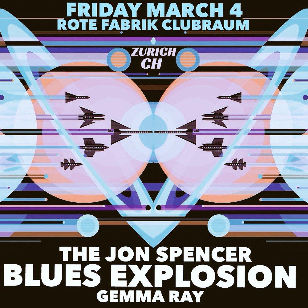 The Jon Spencer Blues Explosion – Rote Fabrik Clubraum, Zürich, Switzerland (4 March 2016)
