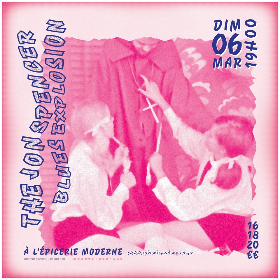 The Jon Spencer Blues Explosion - L'Épicerie Moderne, Feyzin, France (6 March 2016)