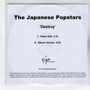 Japanese Popstars - Destroy [Promo] [2 Track] [#2] (CD, UK)