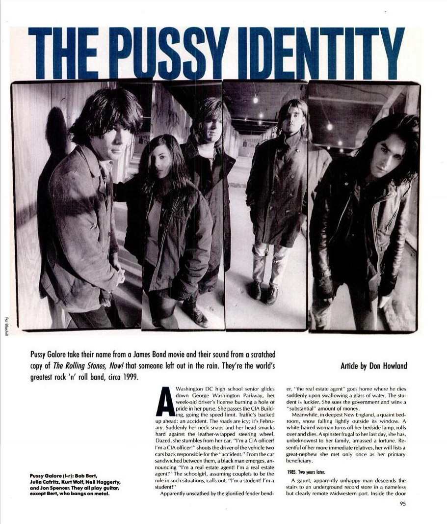 Pussy Galore - Spin: The Pussy Identity (PRESS, US) - Page 1