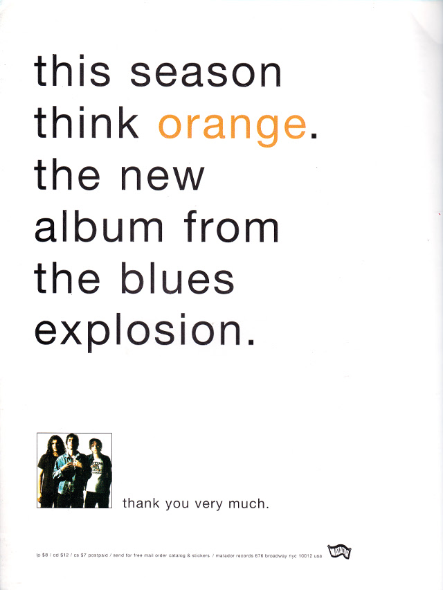 The Jon Spencer Blues Explosion - Orange (ADVERTISEMENT, US)