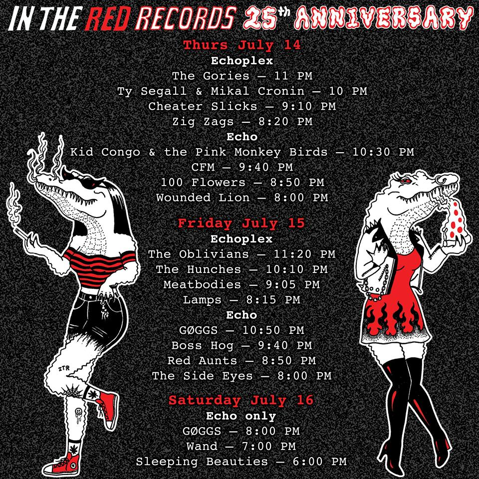 Boss Hog – The Echo: In the Red Records 25th Anniversary, Los Angeles, CA, US (15 July 2016)