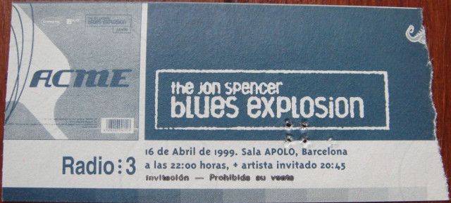 The Jon Spencer Blues Explosion - Sala Apolo, Barcelona, Spain (16 April 1999)