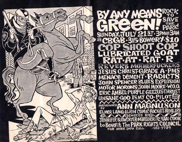 The Jon Spencer Blues Explosion – CBGB's, New York City, New York, US (27 July 1991)