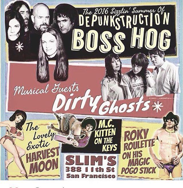 Boss Hog – Slim's, San Francisco, CA, US (14 July 2016)