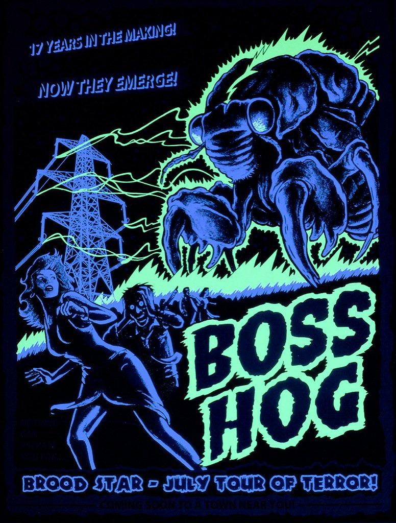 Boss Hog – West Coast Tour Dates (11 – 16 July 2016) - Black Light edition