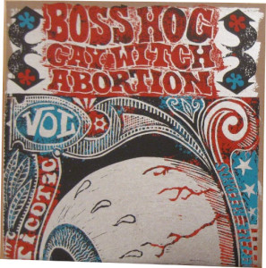 V/A feat. Boss Hog – Psychopticotic Vol. One [Silver Ink - Red/Blue] (10″, US) - Sleeve