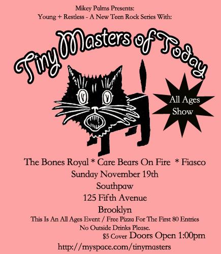 Tiny Masters of Today – Southpaw, Brooklyn, New York, US (19 November 2006)