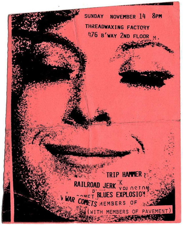 The Jon Spencer Blues Explosion - Threadwaxing Factory, New York City, New York, US (14 November 1993)