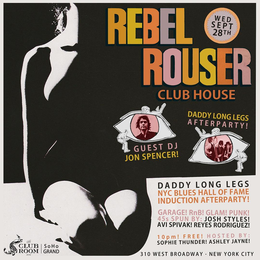 Jon Spencer (DJ Set) – Rebel House Club House, New York City, New York, US (28 September 2016)