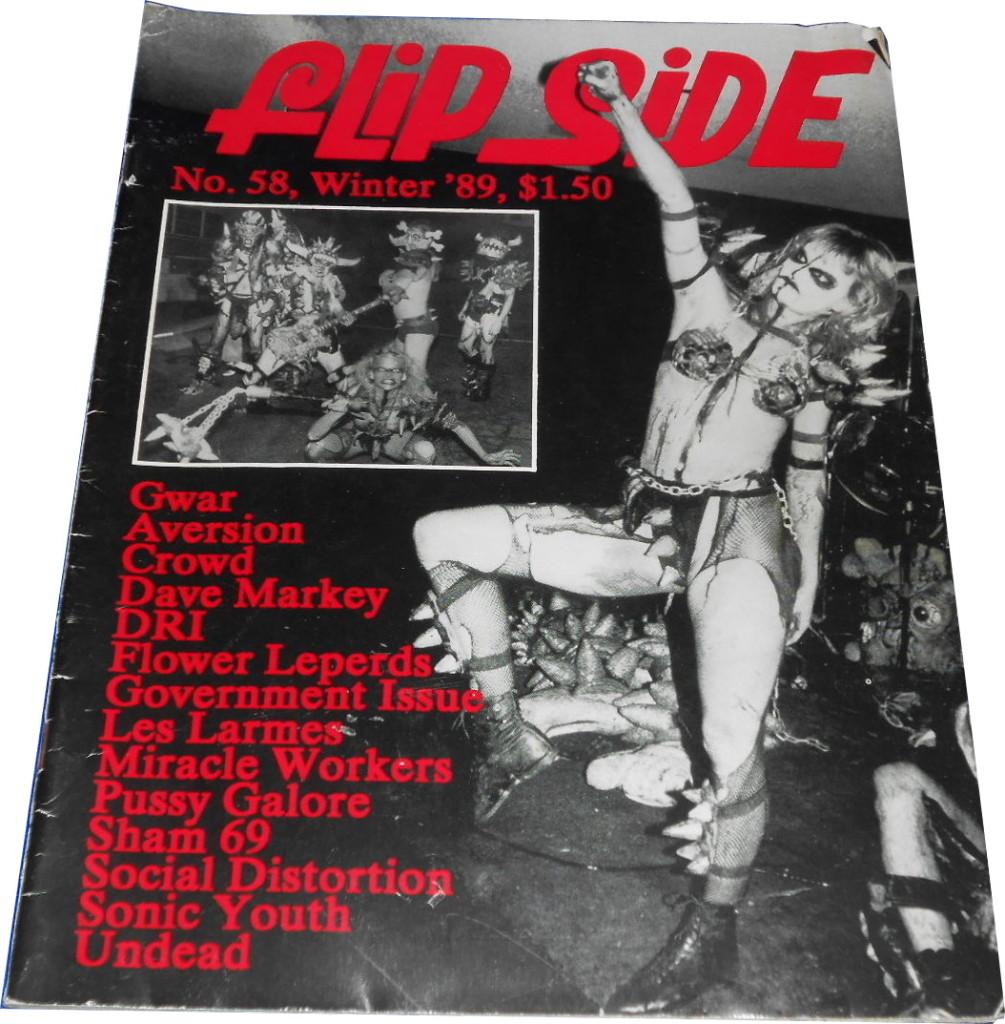 Pussy Galore - Flipside: Bob Bert, Spills It All (PRESS, US) - Cover