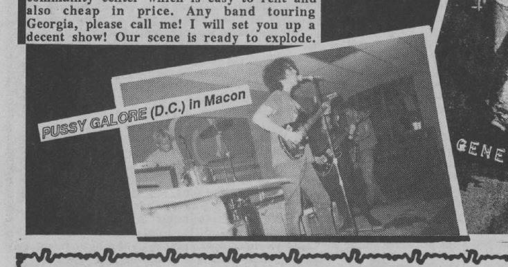 Pussy Galore - Porter Ellis Community Center, Macon, Georgia, US (9 January 1986) + Photo
