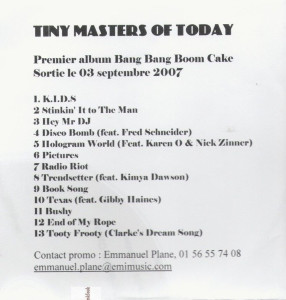 Tiny Masters of Today - Bang Bang Boom Cake [Promo] (CD, FRANCE)  -Front