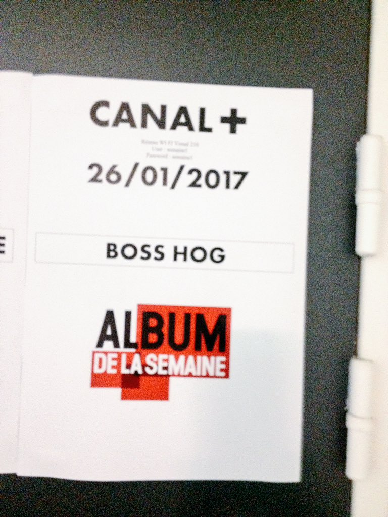 Boss Hog – L'Album de la Semaine / Studio 210, Saint-Denis, France (7 February 2017)