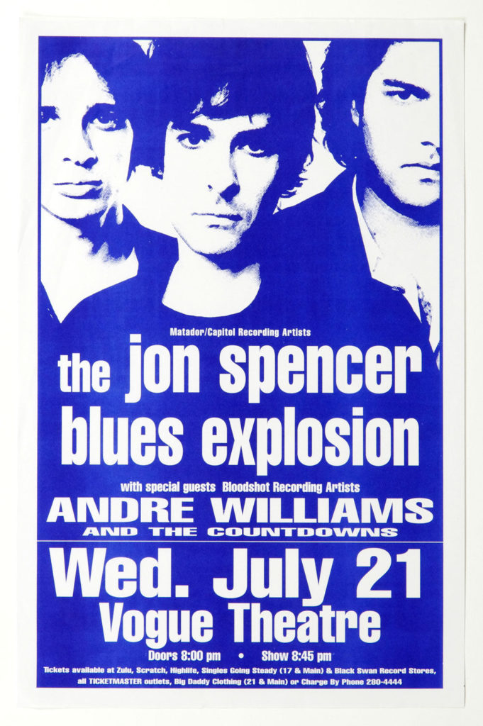 The Jon Spencer Blues Explosion - Vogue Theatre, Vancouver, BC, CANADA (21 July 1999)