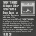 Twenty Miles - Discorder: Twenty Miles & RL Boyce, Othar Turner Fife and Drum Spam [Review] (PRESS, CANADA)