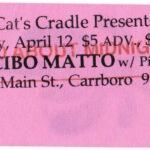 Cibo Matto - Cat's Cradle, Carrboro, NC, US (12 April 1996)